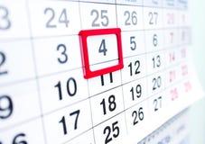 Kalender 4 Royalty-vrije Stock Afbeeldingen