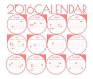 Kalender 2016 Stockfoto