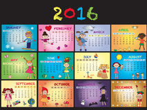 Kalender 2016 Lizenzfreies Stockfoto