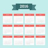 Kalender 2016 Stockfotos