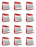 kalender 2016 Arkivfoton