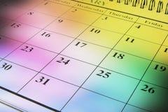 Kalender Lizenzfreie Stockbilder