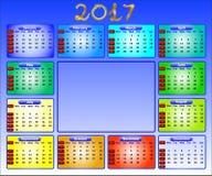 Kalender 2017 Stockfotografie