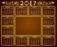 Kalender 2017 Lizenzfreie Stockfotografie