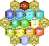 Kalender 2017 Lizenzfreies Stockfoto