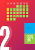 kalender 2017 Royaltyfria Bilder