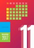 kalender 2017 Royaltyfria Foton