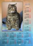 Kalender 2017 Arkivfoto