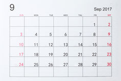 kalender Royaltyfria Bilder