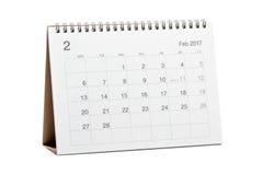 Kalender 2017 Royalty-vrije Stock Fotografie