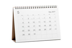 Kalender 2017 Stock Afbeeldingen