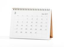 Kalender 2017 Royalty-vrije Stock Afbeelding
