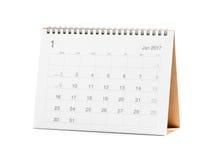Kalender 2017 Royalty-vrije Stock Foto
