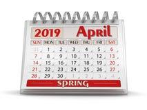 Kalender - April 2019 stock illustrationer