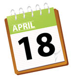 Kalender april Stock Afbeelding