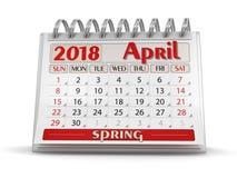 Kalender - April 2018 vektor illustrationer