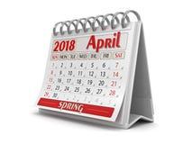 Kalender - April 2018 royaltyfri illustrationer