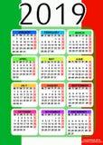 Kalender 2019 Auch im corel abgehobenen Betrag lizenzfreies stockbild