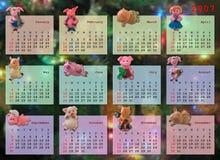 Kalender auf 2007 Jahr Lizenzfreies Stockfoto