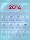 Kalender auf dem Glas lizenzfreie abbildung