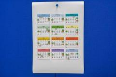 Kalender 2019 auf Schreibtisch für Unternehmensplanung Stockfotografie