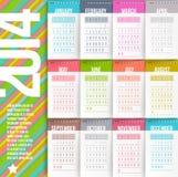 Kalender av 2014 år royaltyfri illustrationer