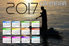 2017 Kalender Backgronds Royalty-vrije Stock Foto's