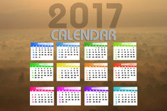 2017 Kalender Backgronds Stock Fotografie
