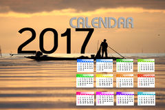 2017 Kalender Backgronds Lizenzfreie Stockfotografie
