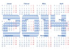Kalender 2014 Royalty Free Stock Image