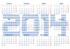 Kalender 2014. Calender 2014 - Montag bis Sonntag in german Royalty Free Stock Image