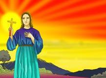 Kalender-Christidee Santo Sankt stock abbildung