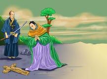 Kalender-Christidee Santo Sankt vektor abbildung