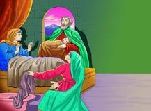 Kalender-Christidee Santo Sankt lizenzfreie abbildung
