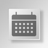 Kalender 3D Gray Square Object Symbol Concept Stockfoto