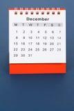 kalender december Arkivfoto
