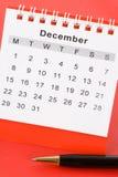 kalender december Royaltyfria Foton