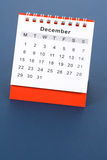 Kalender December Stock Fotografie