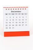kalender december Fotografering för Bildbyråer