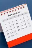 kalender december Royaltyfri Bild