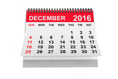 Kalender December 2016 het 3d teruggeven Royalty-vrije Stock Fotografie