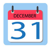 Kalender 31 december nytt år vektor illustrationer