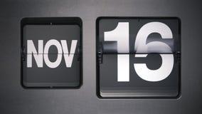 Kalender, der November zeigt stock video footage