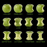 Kalender des grünen Apfels Lizenzfreies Stockfoto