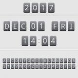 Kalender des leichten Schlages Lizenzfreie Stockbilder