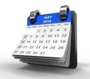 Kalender des leichten Schlages 3d Lizenzfreies Stockfoto