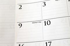 Kalender des Mutter Tages Lizenzfreies Stockfoto