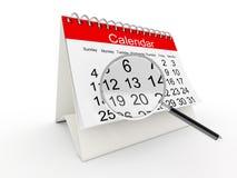 Kalender des Schreibtisches 3D Stockfoto