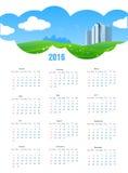 Kalender des Sommer-Thema-2016 Lizenzfreie Stockfotografie