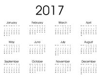 2017 Kalender-Design Stockfotografie